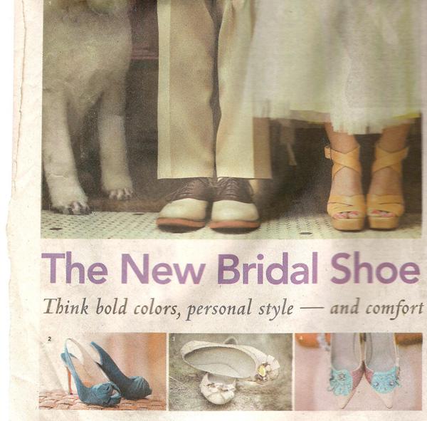 """The New Bridal Shoe,"" Los Angeles Times, 19 June 2011, sec. P9"