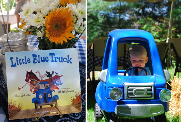 Blue Truck Birthday Decorations Image Inspiration of Cake and